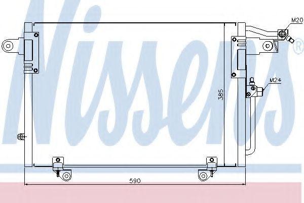Радиатор кондиционера NISSENS 94214