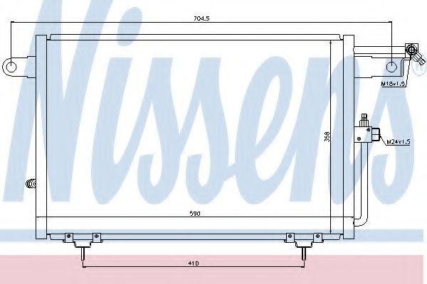 Радиатор кондиционера NISSENS 94213
