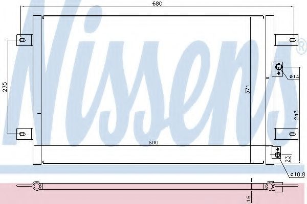 Радиатор кондиционера NISSENS 94251