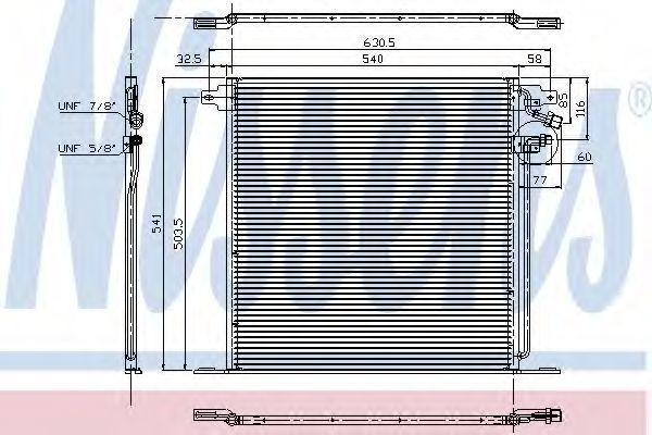 Радиатор кондиционера NISSENS 94226