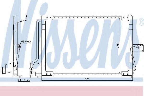 Радиатор кондиционера NISSENS 94117