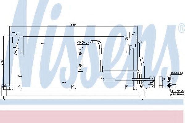Радиатор кондиционера NISSENS 94228