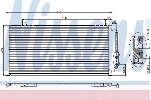 Радиатор кондиционера NISSENS 94255