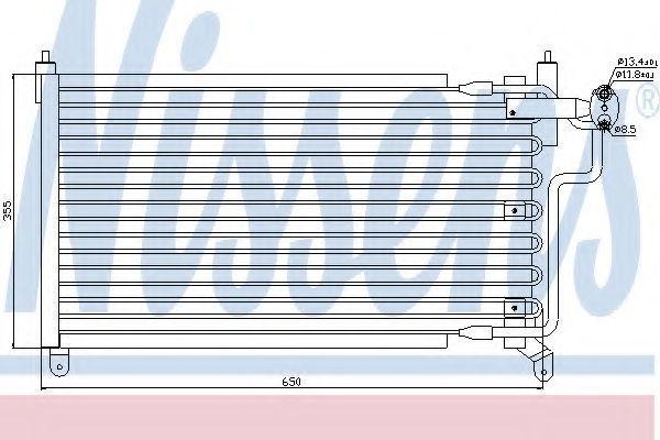 Радиатор кондиционера NISSENS 94227