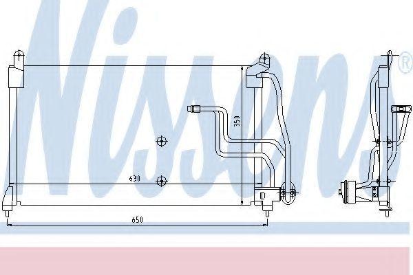 Радиатор кондиционера NISSENS 94190