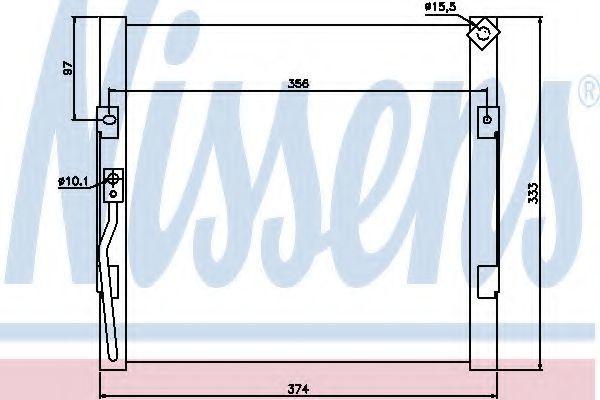 Радіатор кондиціонера NISSENS 94289