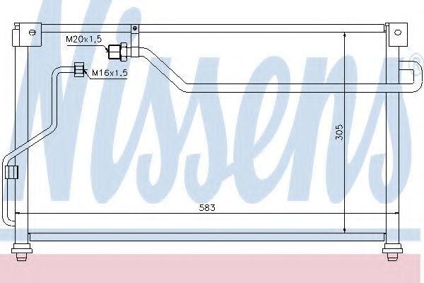 Радиатор кондиционера NISSENS 94293