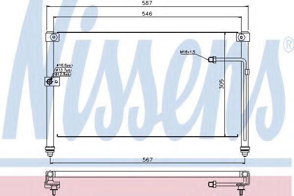Радиатор кондиционера NISSENS 94294