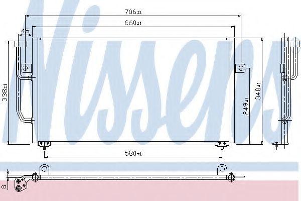 Радиатор кондиционера NISSENS 94306