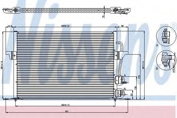 Радиатор кондиционера NISSENS 94308