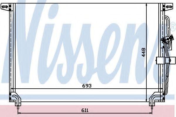 Радиатор кондиционера NISSENS 94232