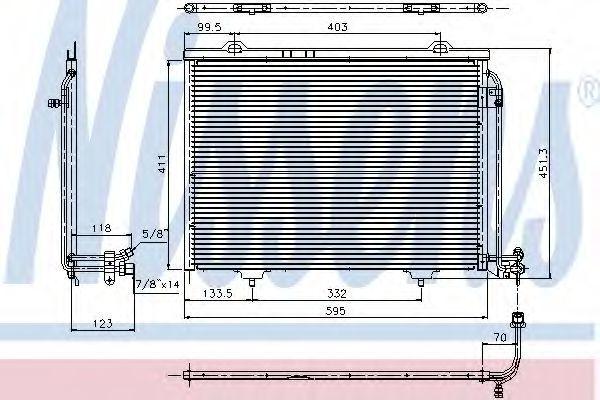 Радиатор кондиционера NISSENS 94282