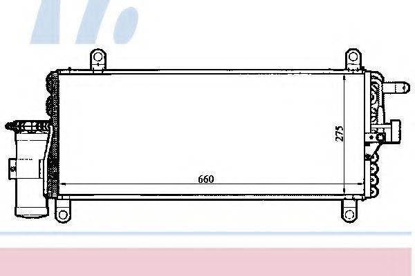 Радиатор кондиционера NISSENS 94280