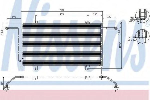 Радиатор кондиционера NISSENS 94326