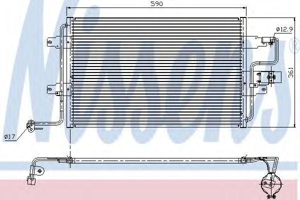 Радиатор кондиционера NISSENS 94310