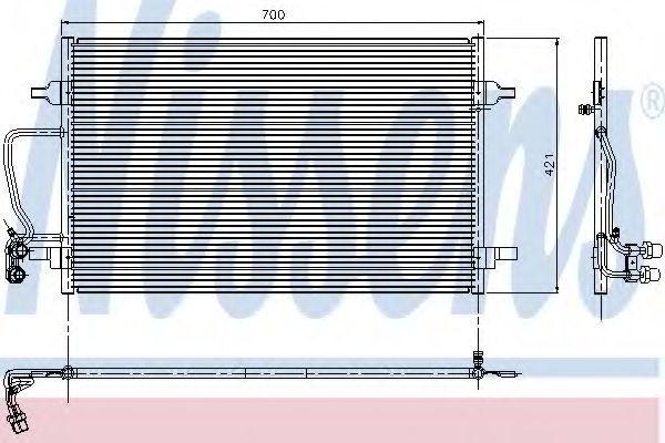 Радиатор кондиционера NISSENS 94345
