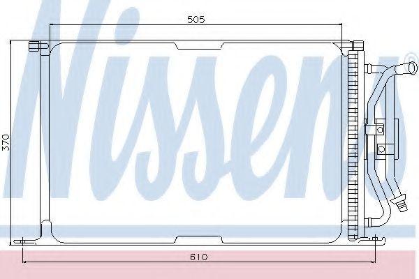 Радиатор кондиционера NISSENS 94277