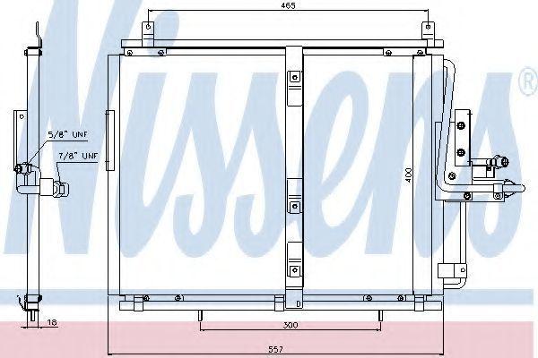 Радиатор кондиционера NISSENS 94377