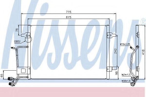 Радиатор кондиционера NISSENS 94594