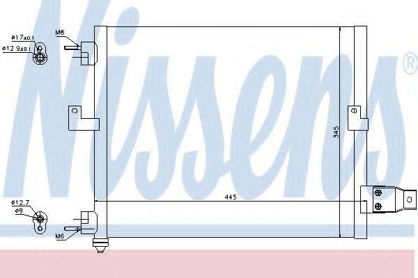 Радиатор кондиционера NISSENS 94036