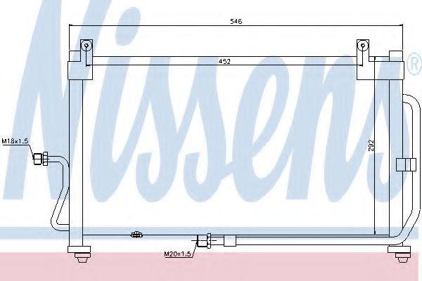 Радиатор кондиционера NISSENS 94411