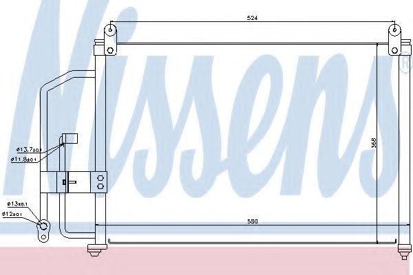 Радиатор кондиционера NISSENS 94412