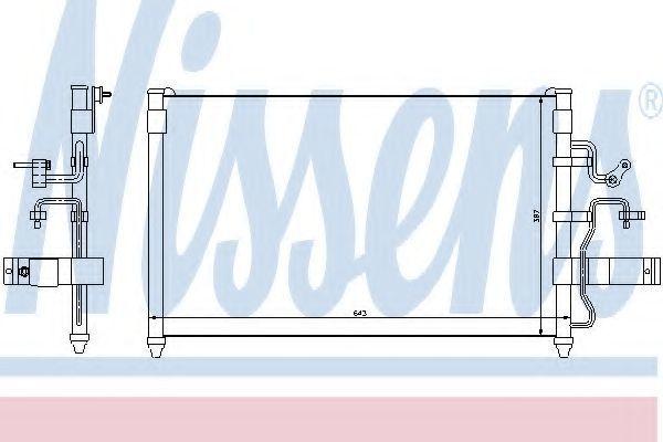 Радиатор кондиционера NISSENS 94413