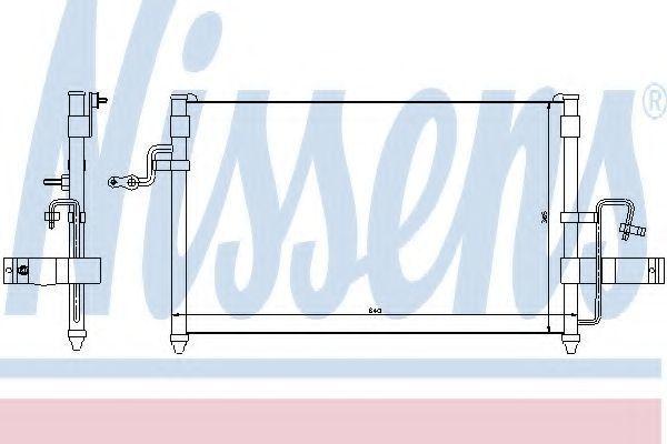 Радиатор кондиционера NISSENS 94414