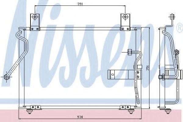 Радиатор кондиционера NISSENS 94415