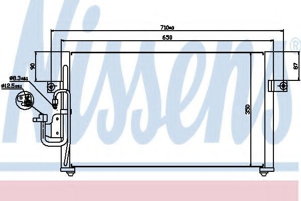 Радиатор кондиционера NISSENS 94037