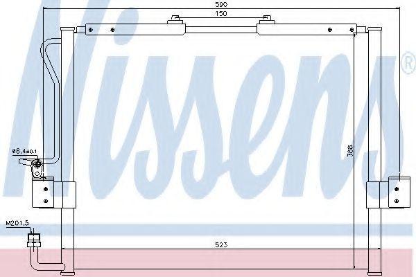 Радиатор кондиционера NISSENS 94417