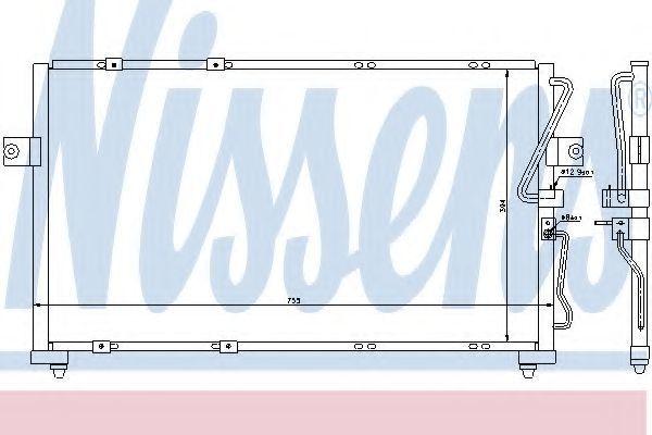 Радиатор кондиционера NISSENS 94418