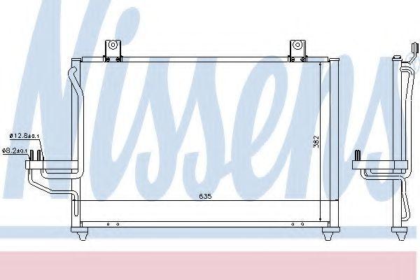 Радиатор кондиционера NISSENS 94422