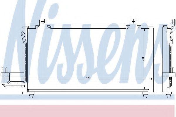 Радиатор кондиционера NISSENS 94419