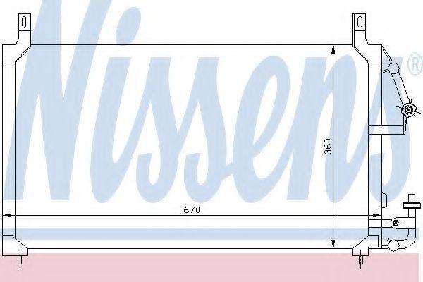 Радиатор кондиционера NISSENS 94424