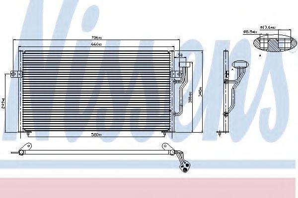 Радиатор кондиционера NISSENS 94433