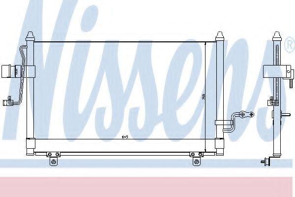 Радиатор кондиционера NISSENS 94455