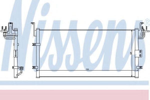 Радиатор кондиционера NISSENS 94447