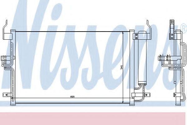Радиатор кондиционера NISSENS 94448