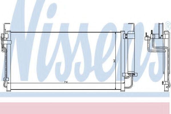 Радиатор кондиционера NISSENS 94449