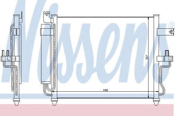 Радиатор кондиционера NISSENS 94452