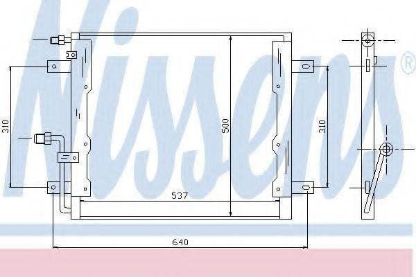 Радиатор кондиционера NISSENS 94335