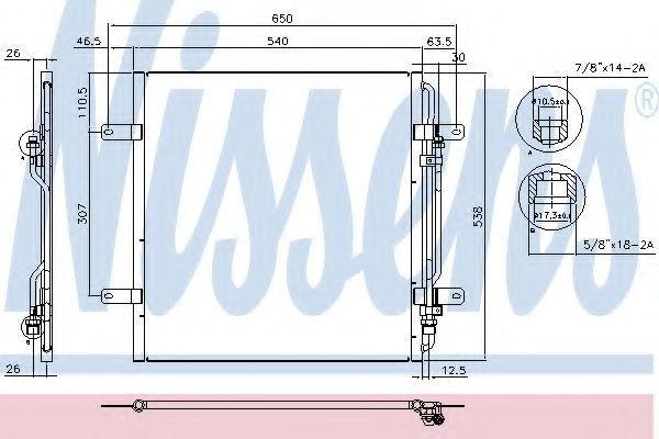 Радиатор кондиционера NISSENS 94337