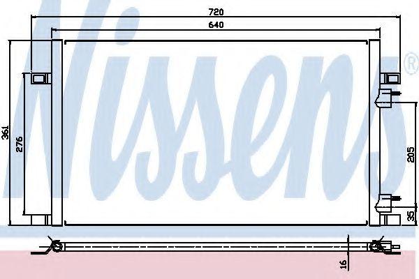 Радиатор кондиционера NISSENS 94386