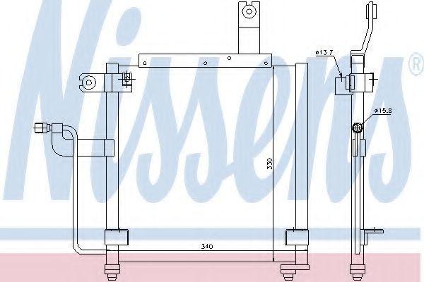 Радиатор кондиционера NISSENS 94423