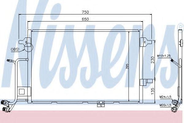 Радиатор кондиционера NISSENS 94430