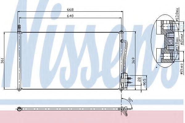 Радиатор кондиционера NISSENS 94432
