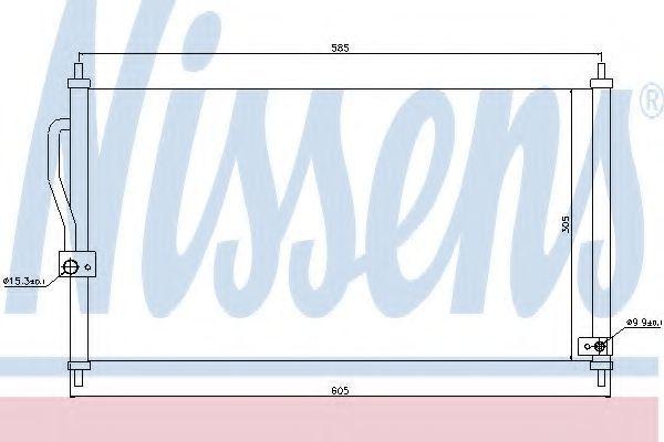 Радиатор кондиционера NISSENS 94458