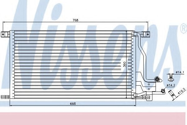 Радиатор кондиционера NISSENS 94483