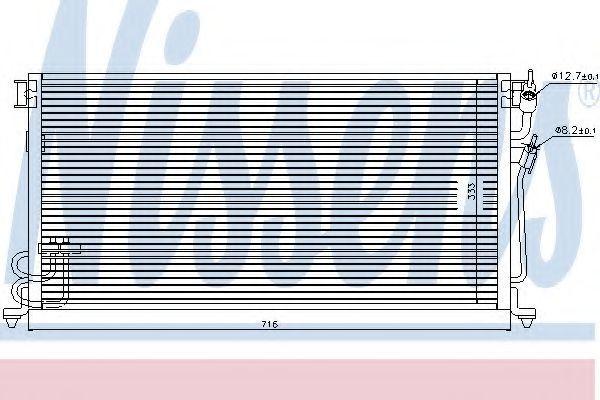 Радиатор кондиционера NISSENS 94492
